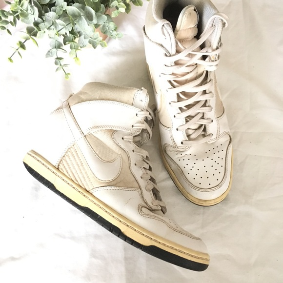 newest collection ac502 7cda3 ... get nike dunk sky hi white wedge sneakers 76ebb 1dff3